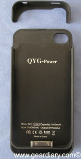 iPhone Accessory Review: QYG-Power iPhone 4 Power Pack from USB Fever