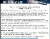 Pat Metheny Workshop
