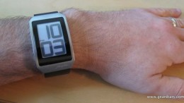 GearDiary Watch Review: Phosphor E Ink Digital Hour Clock Watch with Black Leather Band