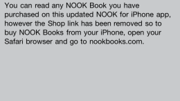 And ... the Nook App Update Removes Store Links from iOS