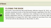 RIP Microsoft Reader