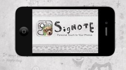 SigNote Adds Interest and Personalization to Your Pics Review