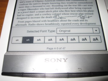 Sony Reader Wifi PRS-T1 Review