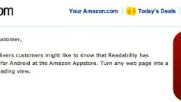 FREE Readability Android App Launches on Amazon AppStore