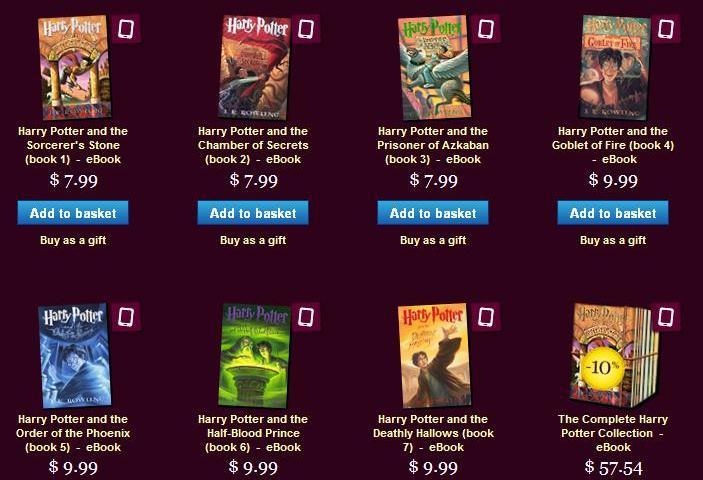 Pottermore eBooks