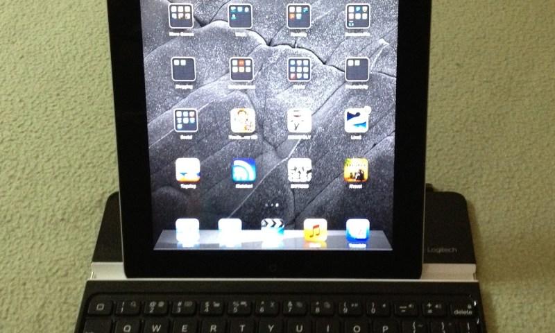 iPad in portrait orientation