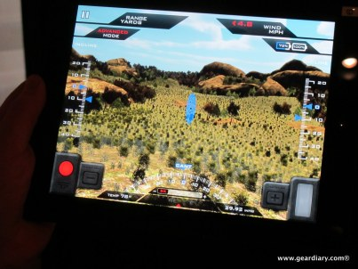 The TrackingPoint iPad app which allows you to see the fundamentals of using the system in action.