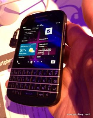 GearDiary BlackBerry Q10 Hands On