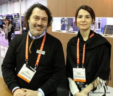 Ali Yildirim, Beyzacases founder and CEO and Burcu Ozden, BeyzaCases designer