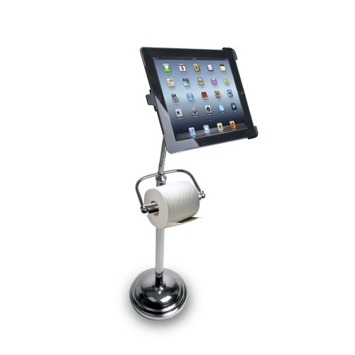 CTA Digital Pedestal Stand for iPad Keeps You Connected in the Bathroom
