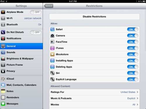 Activating and Using Parental Controls in iOS  Activating and Using Parental Controls in iOS