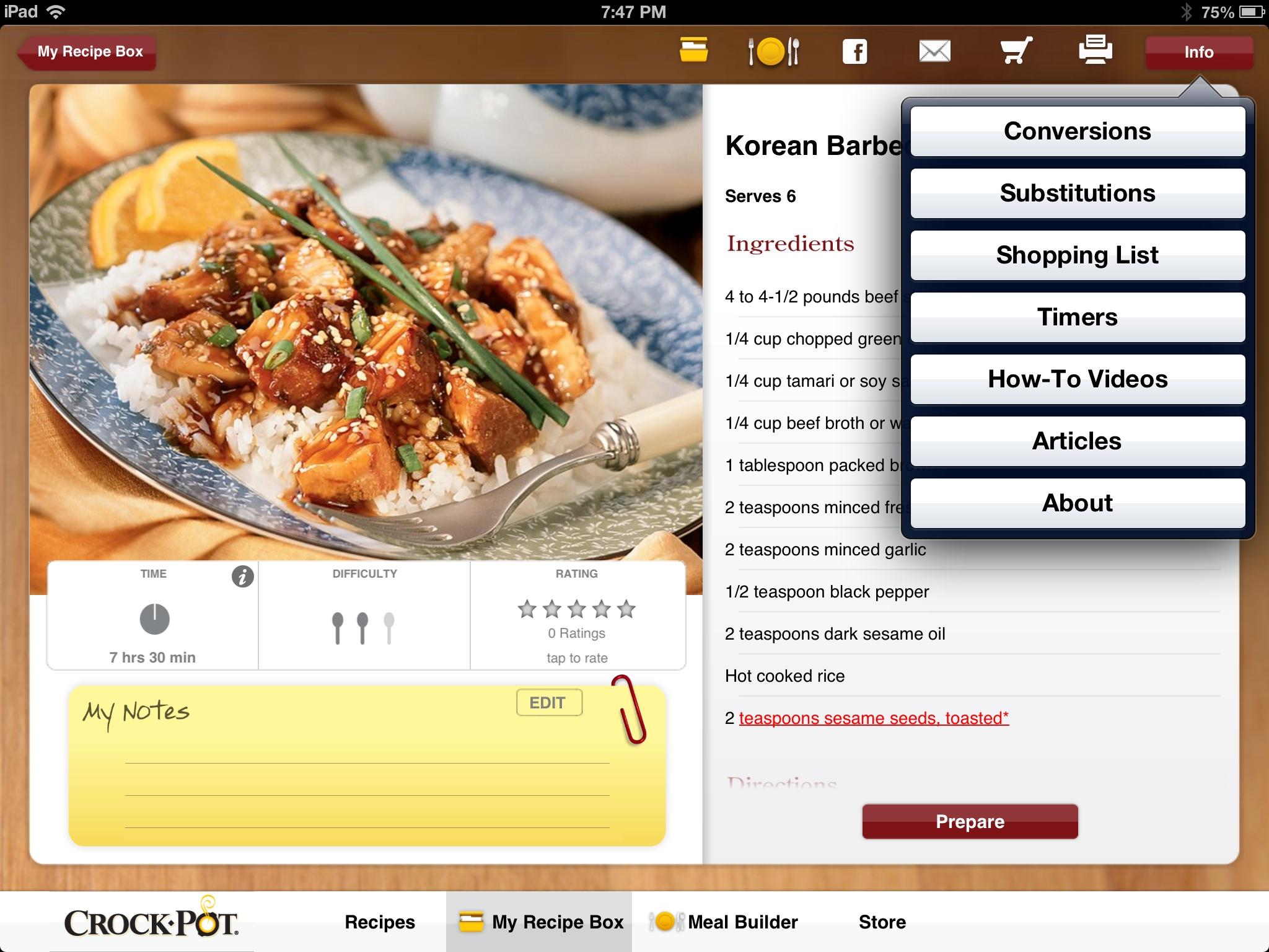 Crock pot recipe app review geardiary geardiary crock pot recipe app review forumfinder Images