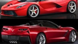 2014 Corvette Stingray Convertible and LaFerrari Dream Cars Unveiled at Geneva Motor Show