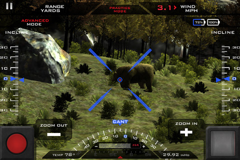 TrackingPoint 's Precision Guided Firearm iOS Simulator App