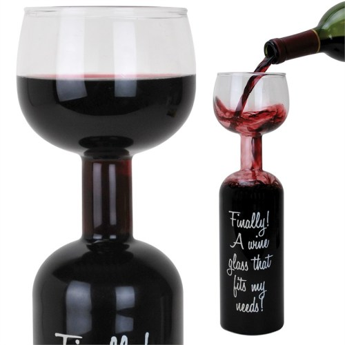 Wacky Wine Bottle Wine Glass from Gadgets and Gear