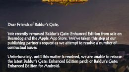 Baldur's Gate Removed from App Store