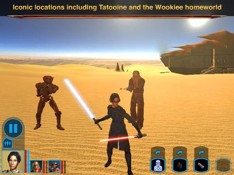 Stars Wars Knights of Old Republic iPad 04