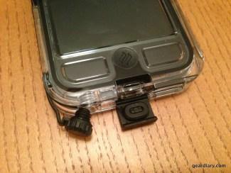 Charging port and headphone port.