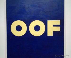 Edward Ruscha's OOF painting
