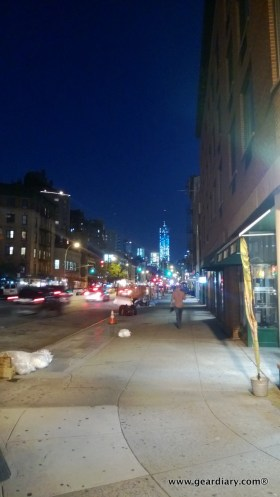 One World Trade Center (the Freedom Tower) seen from the street