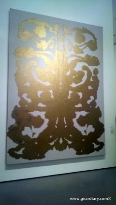 Contrast this pic of Andy Warhol's Rorschach Test taken with the Lumia 928. No flash was used on either pic, but the One looks washed out at the top from the museum lights.