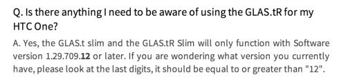 HTC One Screen Protector GLAS.tR SLIM Premium Tempered Glass