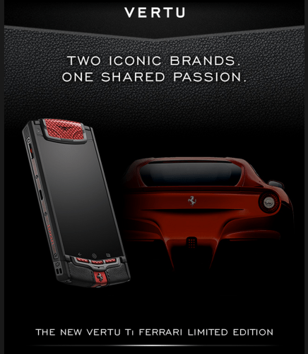 Vertu Ferrari Ti Limited Edition - Inspired by the Ferrari F12 Berlinetta