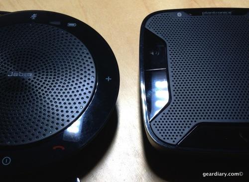 Jabra 510 UC and the Plantronics Calisto 620 UC Speakerphones