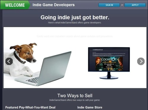 IndieGameStand Launches Dedicated Storefront for Indie Games!