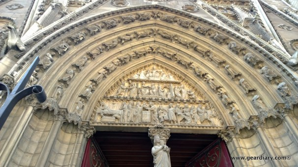 Notre Dame Cathedral's main entrance