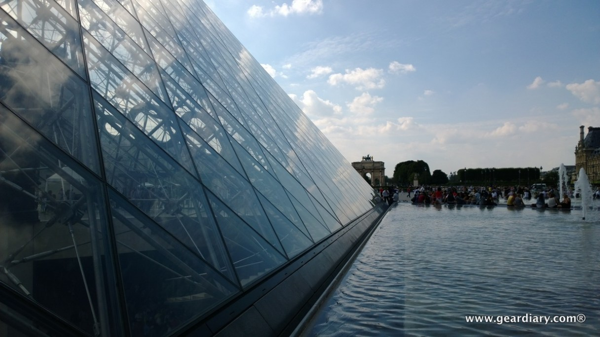 The big pyramid at the Louvre.