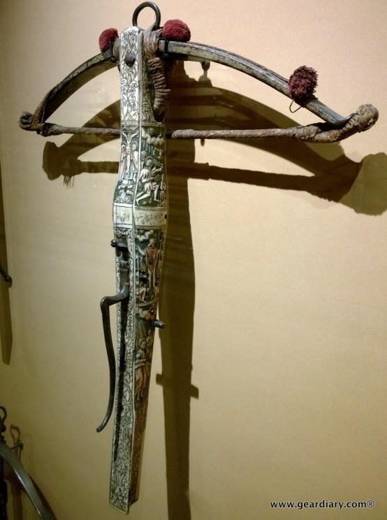 A very ornate crossbow