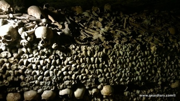 ... and the bones. Six million people are entombed in the catacombs