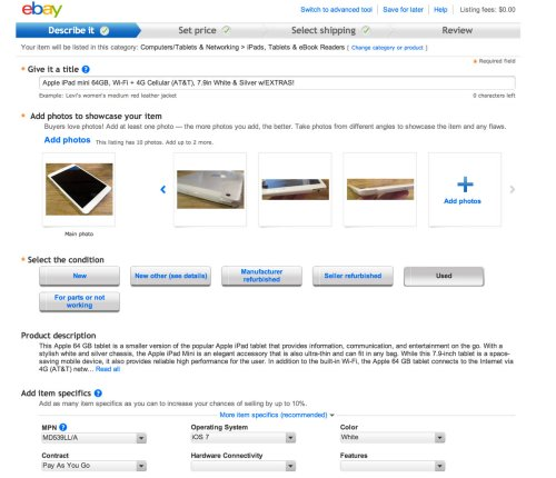 "How To Sell Your ""Old"" Tablets Using eBay's New Simple Flow; It Just Doesn't Get Any Easier!"