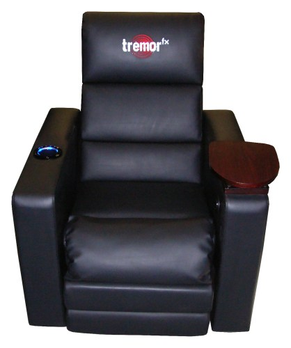 TremorFX Home Theater Seating by RedSeat Entertainment Brings the Sound to Your Seat