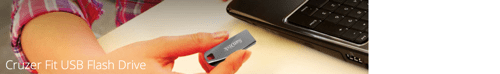 Cruzer Fit USB Flash Drive by SanDisk