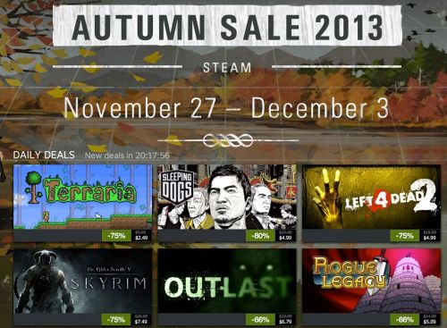 GearDiary Steam Launches Huge Autumn Sale for Thanksgiving Weekend
