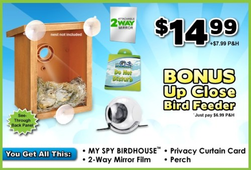 My Spy Birdhouse Takes Birdwatching to a Voyeuristic Level