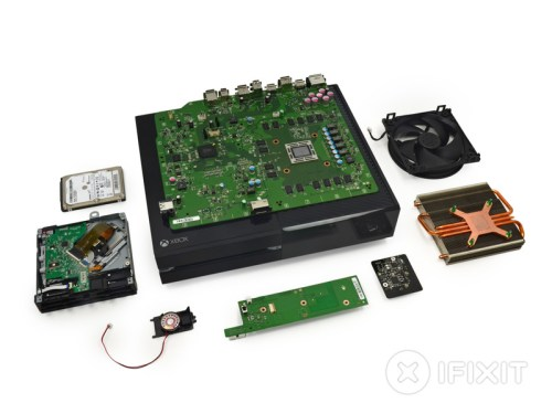Xbox One teardown photo courtesy of ifixit.com