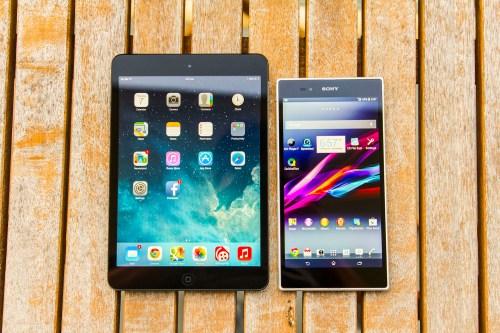 Apple iPad mini and Sony Xperia Z Ultra
