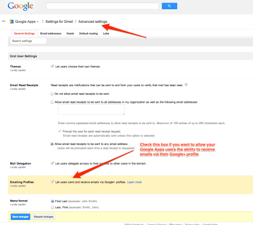 Here's How Google Apps Users Enable Send and Receipt of Email via Google+