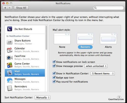 Mac OS X Quick Tip: Manage Notifications in Mavericks