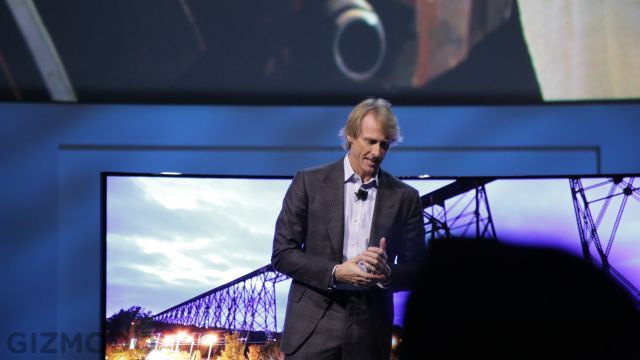 Michael Bay Walks Off Samsung Stage