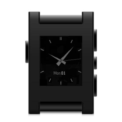 Pebble Watch - Color Series Matte Black 3