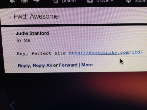 email from judie stanford that isn't from judie stanford