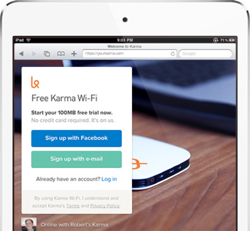 Karma Makes WiFi Sharing Simple