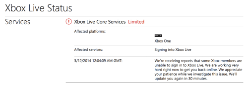 Xbox Live Outages Anger Titanfall Players on Release Day, Make me Question Always-Online Gaming