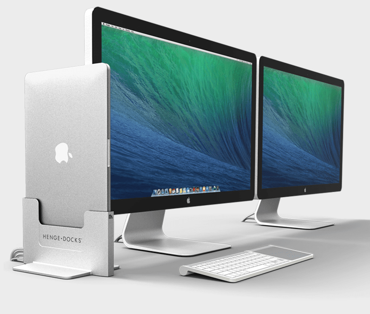 MacBook Pro + iMac + Henge Docks Vertical Docking Station = Awesome