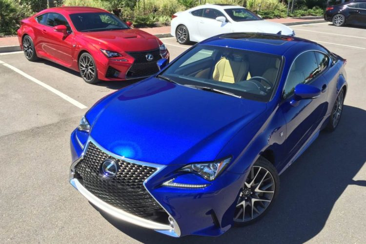 2015 Lexus RC 350 and RC F/Images by Author