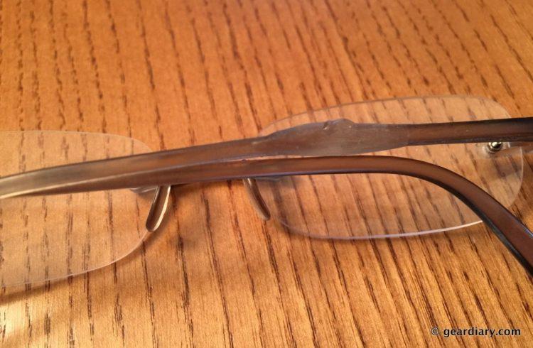 Bondic was used to repair a broken glasses arm.